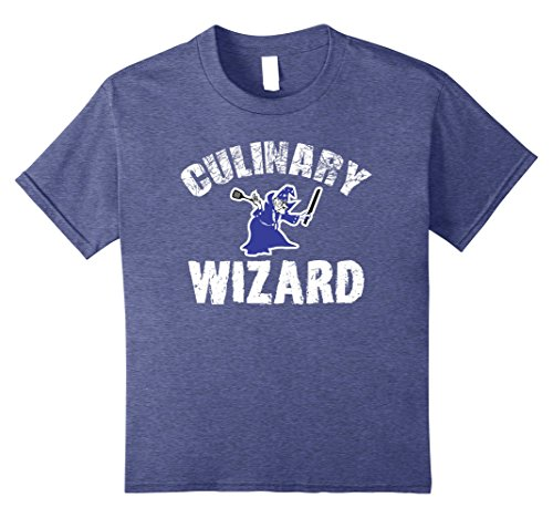 Kids Culinary Wizard T-shirt for Chefs or Cooks 12 Heather Blue