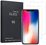 Marvotek JMD233 iPhone X Tempered Glass Anti-Fingerprint High Light Penetration Ratio 9H Hardness Anti-Scratch Bubble Free - 2 Piece