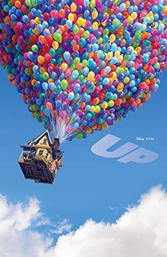 Various sizes UP MOVIE BALLOONS HOUSE CANVAS WALL ART PRINT