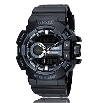 0b6bc06e830 Buy OHSEN Fashion Mens Army Sports Watches OHSEN Brand Digital Watch Men  Man LED Date Day Alarm Waterproof Wristwatch Relogios Masculinos - Black  Online at ...