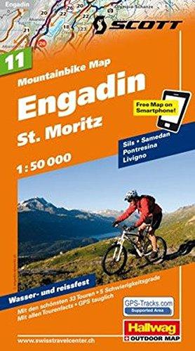 MTB-Karte 11 Engadin - St. Moritz 1:50.000: Mountainbike Map (Hallwag Mountainbike-Karten)