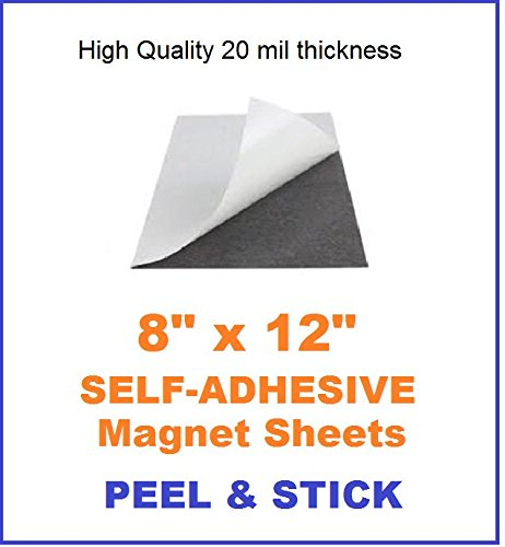 Flexible Self Adhesive Magnetic Sheets Size 8