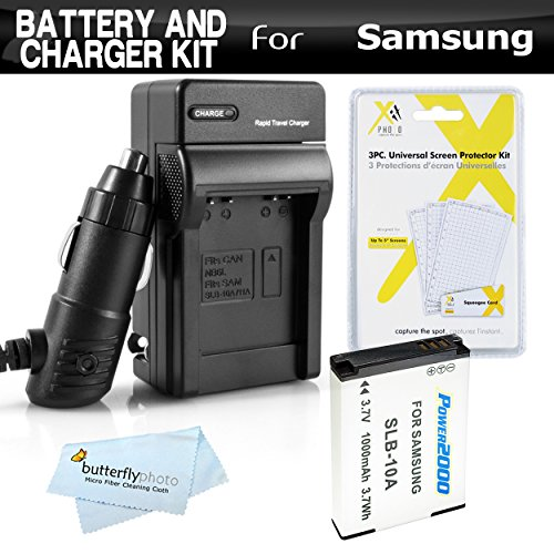 Battery And Charger Kit For Samsung WB750, WB150F, EX2, EX2F