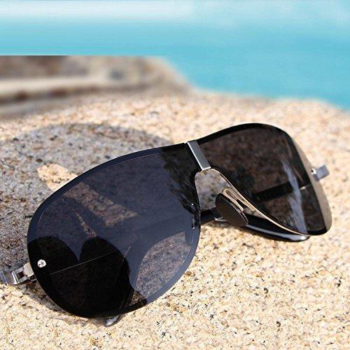 Lunettes Hommes WEI Soleil noir Mode d'entraînement Lunettes Film Miroir weiwei Classique de noir cadre Polarisé Soleil sans de Cadre d6UqUwEO