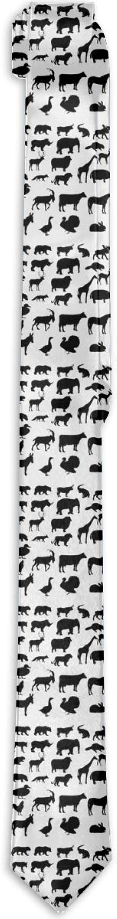 CZSJ Dark Horse Mens Fashion Tie Luxury Print Necktie