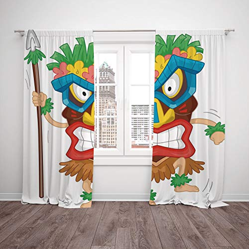 Thermal Insulated Blackout Window Curtain [ Tiki Bar