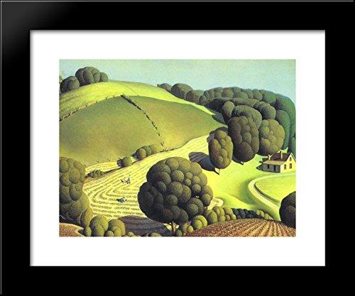 Grant Wood Prints - Young Corn 20x24 Framed Art Print by Grant Wood