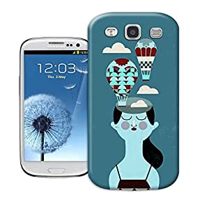 Longcase Girl Closing Her Eyes And Fire Ballon Flying Above Her Cheap Tpu Material Hard Case For samsung galaxy s3