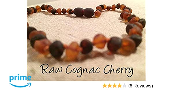 Instant Pain Relief Raw Baltic Amber Teething Necklace: with 100/% Natural Baltic Beads Certified Organic and Handcrafted Jewelry for Teething and Drooling Babies and Toddlers Rainbow, Medium
