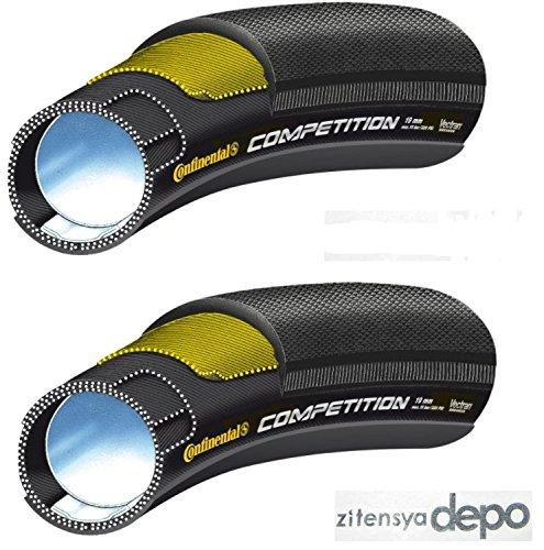 【国内正規代理店品】Continental(コンチネンタル) COMPETITION(コンペティション) チューブラータイヤ 2本 +zitensyadepoステッカー B0725X9Q51 28×25mm