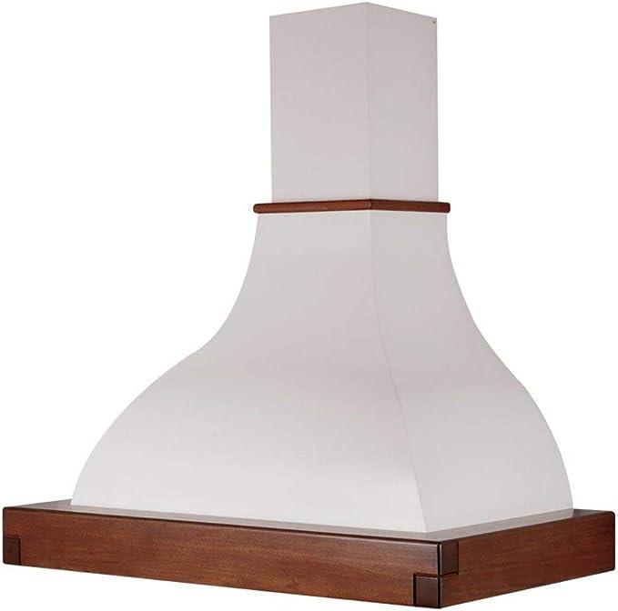 Lalla Cappa Da Cucina 90 Cm Tipologia Filtrante Aspirante Installazione Isola Finitura Bianco Legno Grezzo Amazon It Grandi Elettrodomestici