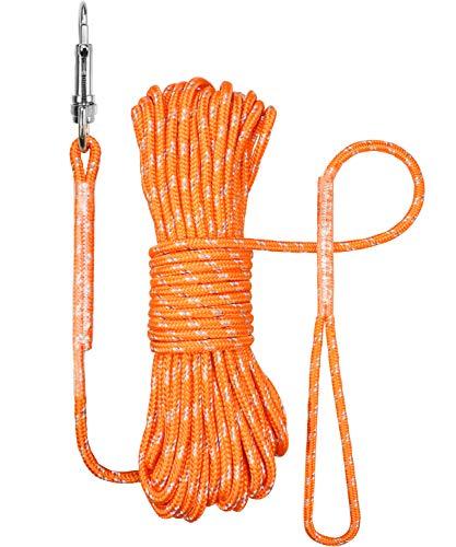 TagME Reflektierend Schleppleine für Kleine Hunde,Seil Hundeleine 5M/10M/15M,Orange