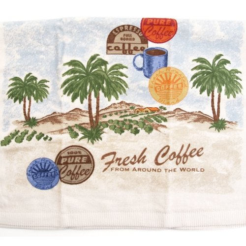 Ritz Fresh Coffee Tropical Palm Trees Kitchen Towel, 18 x 26 Inch