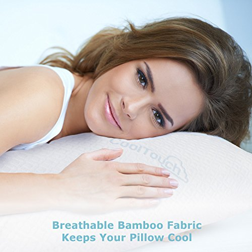 Memory Foam Body Pillow with Bamboo Cover | Large Firm Pillow for Adults with Pillowcase | Snuggle in Comfort | Pregnancy & Maternity Support | Back Side & Stomach Sleeping | Full Queen King Bed