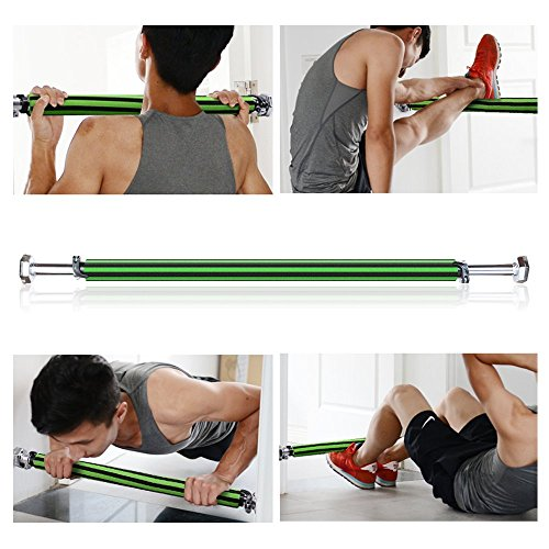 Pull Up Bar,Doorway Portable Fitness Pull Up Bar Chin Up Bar Grips ,Heavy Duty Easy Gym Lite,Comfort Grips of Hexagon Shape Gasket,Exclusive Bar Lock ,Length Adjustable