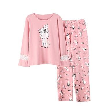 Mmllse Pijama De Las Mujeres Establece Pijamas De Gato De Encaje ...