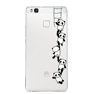 Qissy® Carcasa Funda para Huawei P9 Lite,Gel TPU Silicona Flexible Transparente Ultra Slim Protective Case Cover Skin para Huawei P9 Lite