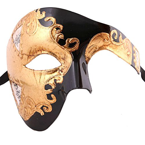 Xvevina Venetian Phantom of The Opera Mask Vintage Look -