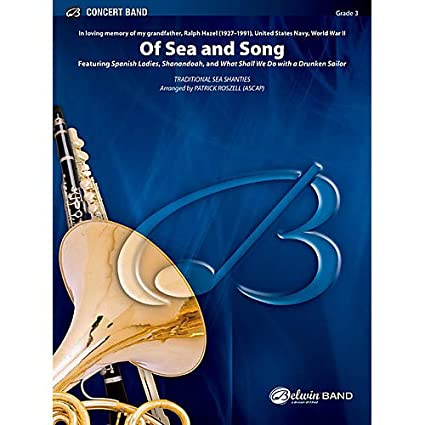 Amazon com: Of Sea and Song Concert Band Grade 3 (Medium