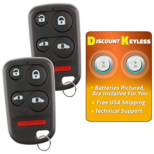 Discount Keyless Replacement Key Fob Car Entry Remote For Honda Odyssey OUCG8D-440H-A (2 Pack)