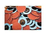 Car Builder Supply 720q50 Sand Loc Quick Change Type R Grinding Sanding Disc 2'' 120 Grit Aluminum Oxide (AO) 50pc