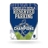 "MLB Kansas City Royals 2015 World Series Champion High-Res Metal Parking Sign, Silver, 8 1/4 x 11"""