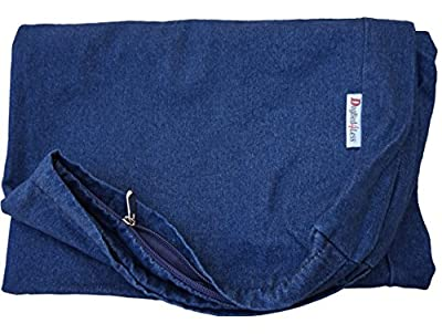 Heavy Duty Navy Blue Denim Jean Dog Pet Bed External Cover - Replacement cover only - 7 Sizes : Small Medium, Large, XL, XXL and XXXL
