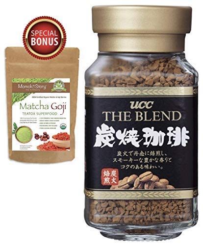 UCC Japan's No.1 Coffee Brand Popular Charcoal Roasted Sumiyaki Instant Coffee Blend, Tastes Just Like Fresh Brewed (1.58 oz, 45g)