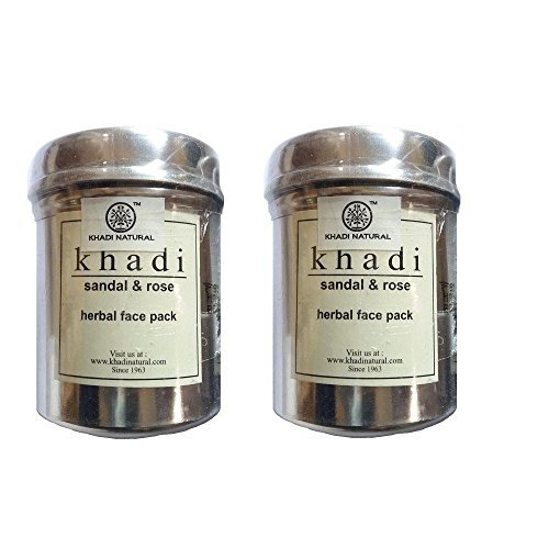Khadi Sandal and Rose Herbal Face Pack, 50g (Pack of 2)