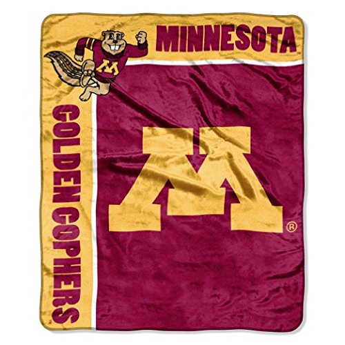 NCAA Minnesota Golden Gophers School Spirit Plush Raschel Throw, 50