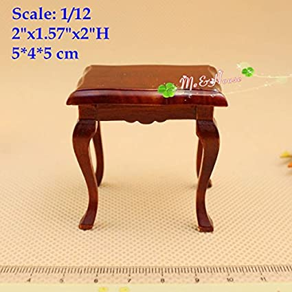 1:12 Dollhouse Miniature Furniture Wooden Rectangle Table For Living Room DIY A