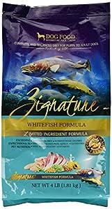 Zignature Whitefish Formula Dog Food, 4 lb.