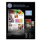 HP Color Laser Brochure Paper, 97 Brightness, 40 lb, 8-1/2 x 11, White, 150 Shts/Pk
