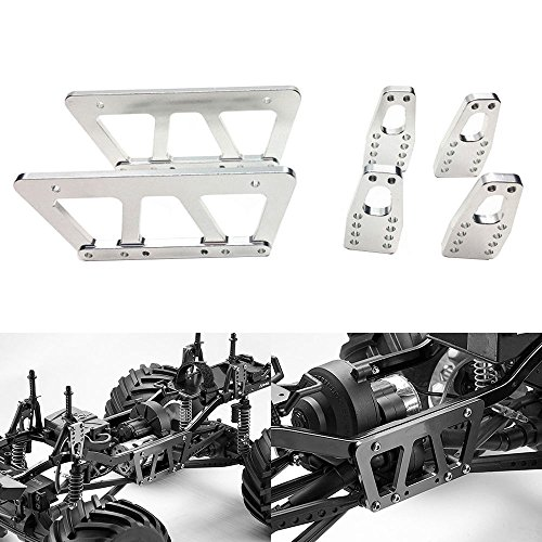 Crawler Chassis - Alloy Chassis Lift Plate Set Kit For 1/10 RC Axial SCX10 Model Car Part Silver