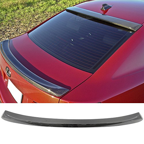 Trunk Spoiler Fits 2006-2013 Lexus Is250 350 ISF | ISF Sport Style Carbon Fiber CF Rear Tail Lip Deck Boot Wing Other Color Available By IKON MOTORSPORTS | 2007 2008 ()