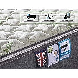 Ej. Life Bamboo Fiber Mattress, Pocket Sprung Mattress with Memory Foam – 9 Zone Orthopaedic Mattress