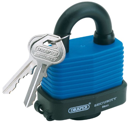 Draper 64174 42 mm Waterproof Combination Padlock Draper Tools Ltd Brassware Locks Hardware
