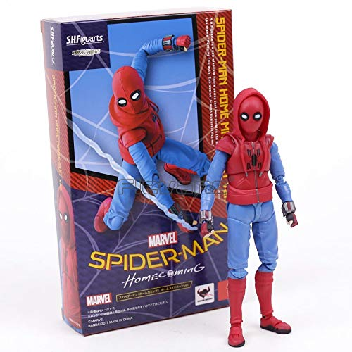Pitaya. Spider Man Homecoming Home Made Suit Ver. PVC Action Figure Toy -Collectable Movies Comics Gamerverse Superheroes (The Amazing Spider Man 2 Black Suit)
