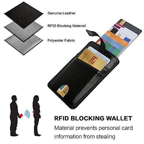 Wallets for Men with Money Clip-Mens Wallets-EGRD Slim Genuine Leather Front Pocket Wallets Credit Card Holder Sleeve-RFID Blocking(Leather Wallet Black) Photo #5