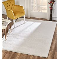 Dillman Rugs, Area Rugs, White 4x6 Floor Rug,Fluffy, Simple, Living Room,Dining Room,Bedroom,Thick,