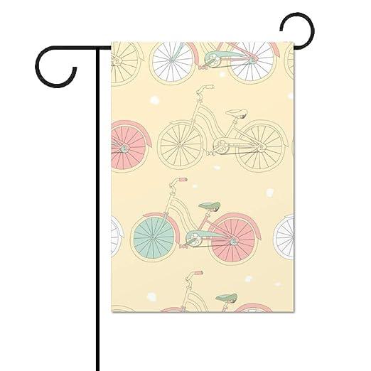 Taslilye Bandera de jardín Costuras, con diseño de Bicicleta ...