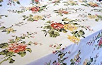Savoy Garden Vinyl Tablecloth, 52X90 Oval