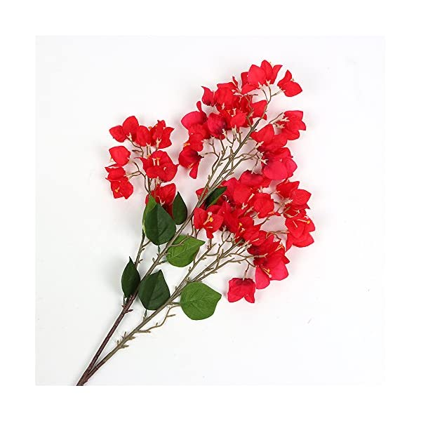 Li Hua Cat artificial flower decoration Bougainvillea spectabilis Willd silk cloth flowers sea bright your home for home decor table decor DIY flower arrangement (style 2-red)