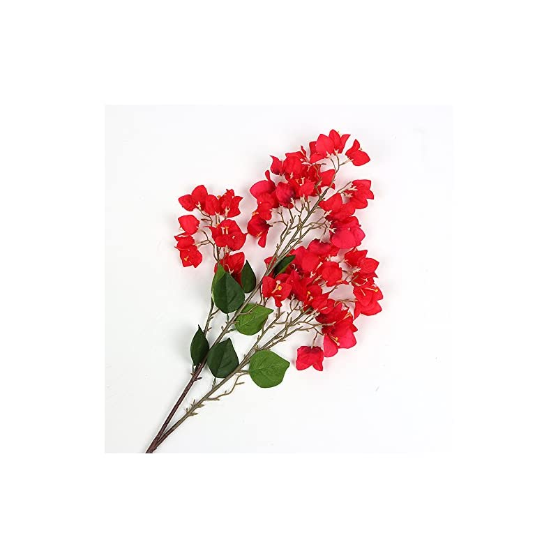 silk flower arrangements lihuacat artificial flower decoration bougainvillea spectabilis willd silk cloth flowers sea bright your home for home decor table decor diy flower arrangement (style 2-red)