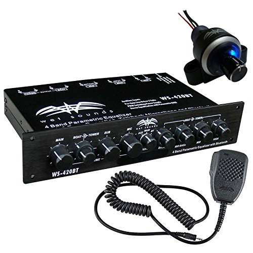 Wet Sounds 4 Band 3 Zone Parametric Equalizer + Bluetooth Volume Control -