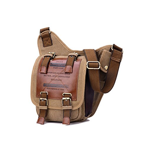 Vintage Shoulder Military Messenger Patchwork