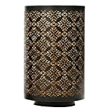 Hosley Diamond Cut Candle Holder 8'' Height - Ideal Gift for Wedding, Spa, Lantern, Reiki, Decor. LED Candles P9