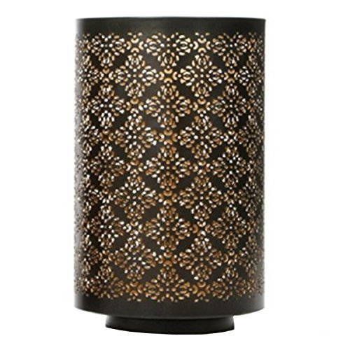 Hosley Diamond Cut Candle Holder 8 Inch Height Ideal Gift for Wedding Spa Lantern Reiki Decor LED Candles P9 (Candle Large Holder)