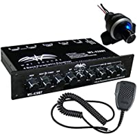 Wet Sounds 4 Band 3 Zone Parametric Half DIN Equalizer + Bluetooth Volume Remote
