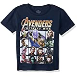Marvel - Playera de los Vengadores Infinity War Thanos Character Grid S/S para niño